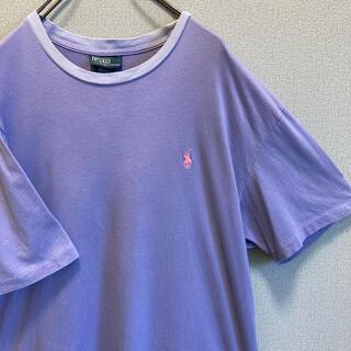 POLO RALPH LAUREN - 90s ラルフローレン リンガー tシャツ 刺繍ロゴ ゆるだぼ vintage