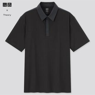 ユニクロ(UNIQLO)のUNIQLO×Theory エアリズムスリムフィットポロシャツ ブラック(ポロシャツ)