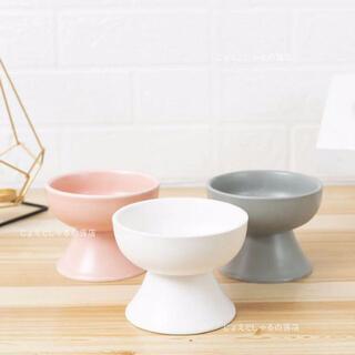 陶器製 猫 犬 フードボウル ペット用食器 おやつ 餌入れ 水やり 3個 ピンク