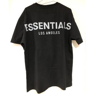 FEAR OF GOD - essentials  Tシャツ ブラック 黒