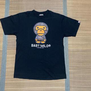 A BATHING APE - APE BAPE BABY MILO STA ベビーマイロ tシャツ 黒 M