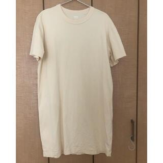 UNIQLO - ユニクロU Tシャツ ワンピース チュニック ベージュ