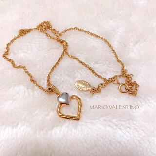 MARIO VALENTINO - 【MARIO VALENTINO】ダブルハートネックレス 美品 ヴィンテージ