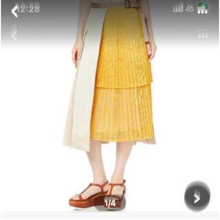 リリーブラウン(Lily Brown)のアシメントリープリーツスカート(ひざ丈スカート)