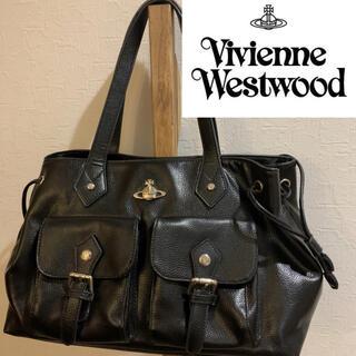 Vivienne Westwood - ヴィヴィアンウエストウッド  牛革 オーブ レザー ハンドバッグ