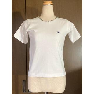 バーバリー(BURBERRY)のバーバリー ロンドン タイト ワンポイントロゴ Tシャツ 白 ヴィンテージ(Tシャツ(半袖/袖なし))