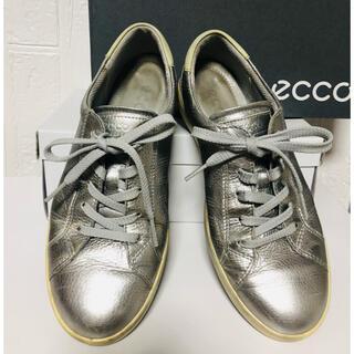 エコー(ECHO)のECCO エコー シルバー スニーカー 37サイズ 23.5cm(スニーカー)