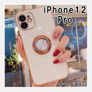 iPhone12Pro スマホケース 韓国 お洒落 シンプル 人気 白 F