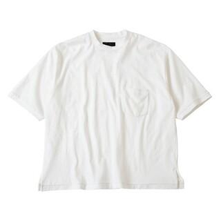 Jieda - bukht 19SS CREW NECK POKET T-SHIRT 白Tシャツ