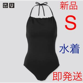 ユニクロ(UNIQLO)の新品 ユニクロ シームレススイムギャザーワンピース Sサイズ ブラック(水着)
