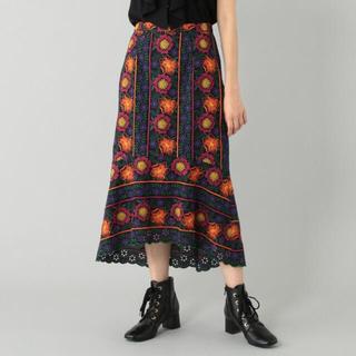 GRACE CONTINENTAL - グレースコンチネンタル イレヘム刺繍スカート