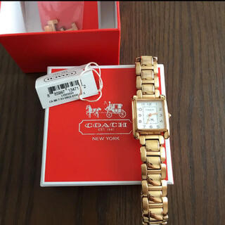 COACH - coach  ピンクゴールドカラー スクエア 腕時計