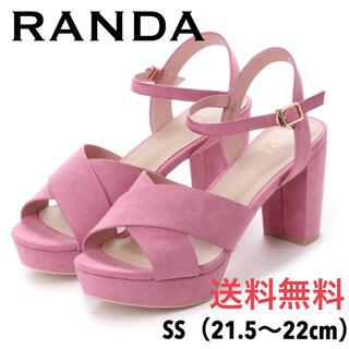RANDA - 美品☆RANDA  クロスベルトアンクルストラップサンダル SS【送料無料】