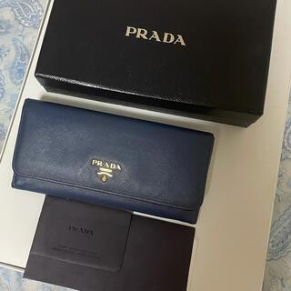 PRADA - PRADA 長財布 ネイビー