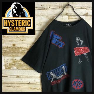 HYSTERIC GLAMOUR - hystericglamour ヒステリックグラマー Tシャツ 刺繍ロゴ 大きめ
