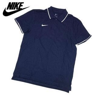 NIKE - 新品 US Mサイズ(Lサイズ位) ナイキ ポロシャツ 半袖 メンズ ネイビー