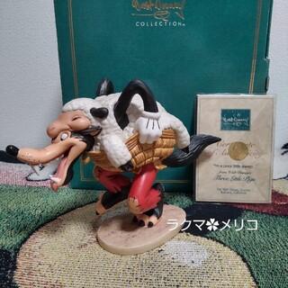ディズニー(Disney)のWDCC  ビッグバッドウルフ 3匹の子ぶた オオカミ フィギュア 置物 陶器(その他)