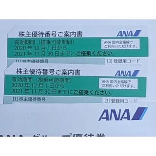 エーエヌエー(ゼンニッポンクウユ)(ANA(全日本空輸))のANA 株優待券 2021年11月30日まで 2枚組(その他)