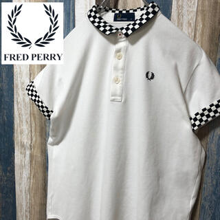 FRED PERRY - 激レア【FREDPERRY】フレッドペリー 半袖ポロシャツ 袖チェッカー柄