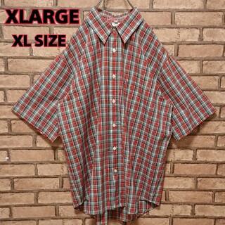 XLARGE - XLARGE エクストララージ チェック 柄  メンズ 半袖 シャツ