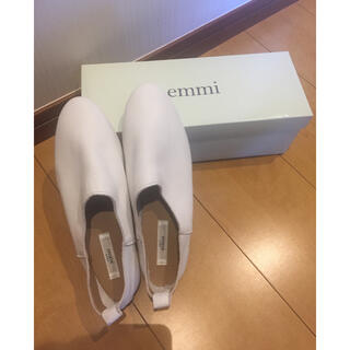 emmi atelier - 定価12100円 emmi   ワンマイルスリップオン  ホワイト 23.5