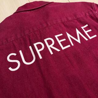 Supreme - 送料込み 極美品 Supreme バックロゴ デニムシャツ
