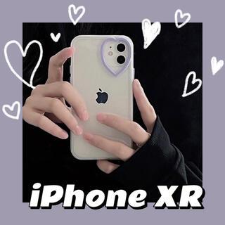 iPhoneXRスマホケース【パープル】紫 ♥ ハート型カメラ ラスト1点❗️
