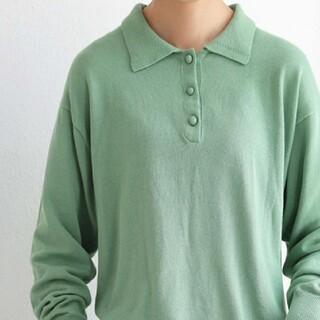 アンティカ(antiqua)のアンティカ 新品タグ付き ポロシャツ風 長袖ニット(ニット/セーター)