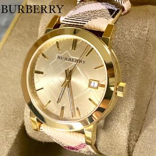 BURBERRY - 【新品】正規品 日本未発売★バーバリー 腕時計 チェック柄 革ベルト