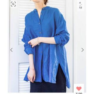 IENA - IENA ラミーリヨセルバックギャザーシャツ
