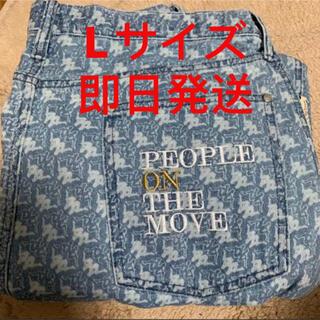 GU - 【最安値】GU × KAPPA コラボ ワイドロールアップジーンズ デニム