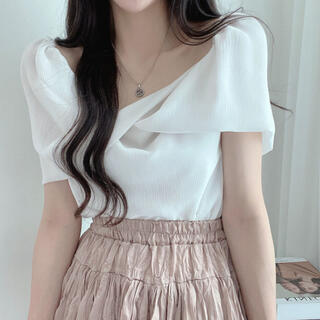 STYLENANDA - 【予約商品】《3カラー》オフショルダー シフォン ブラウス 韓国ファッション