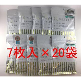 クオリティファースト(QUALITY FIRST)のクオリティファースト オールインワンシートマスク グランホワイト ×20袋(パック/フェイスマスク)