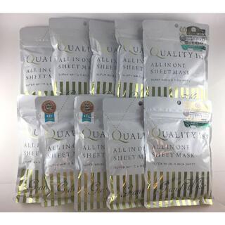 クオリティファースト(QUALITY FIRST)のクオリティファースト オールインワンシートマスク グランホワイト 7枚×10袋(パック/フェイスマスク)