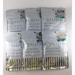 クオリティファースト(QUALITY FIRST)のクオリティファースト オールインワンシートマスク グランホワイト 7枚入×6袋(パック/フェイスマスク)