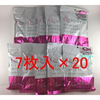 クオリティファースト(QUALITY FIRST)のクオリティファースト オールインワンシートマスク グランモイスト  7枚入×20(パック/フェイスマスク)