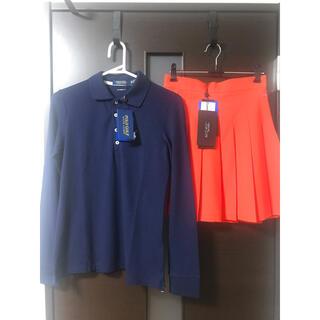 ポロゴルフ(Polo Golf)の新品 POLOGOLF ジェイリンドバーグ ポロシャツ&プリーツスカートセット(ウエア)