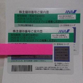 エーエヌエー(ゼンニッポンクウユ)(ANA(全日本空輸))のANA 全日空  株主優待券2枚 2021年11月30日迄(航空券)