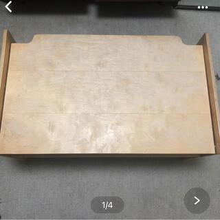 ムジルシリョウヒン(MUJI (無印良品))のMUJI 無印良品 収納付き ローテーブル(ローテーブル)