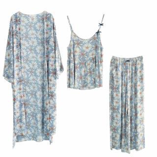 花柄ルームウェア3点セット 部屋着・パジャマ・カーディガン レディース 女性