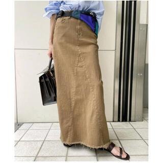 L'Appartement DEUXIEME CLASSE - アパルトモンGOOD GRIEF A Line Fringe Hem Skirt