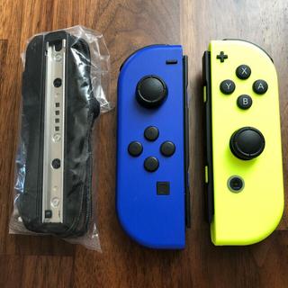 Nintendo Switch - 任天堂 Switch ジョイコン ブルー×ネオンイエロー
