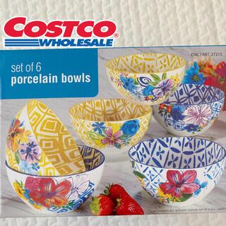 コストコ(コストコ)のコストコ カラフルボウル 6個セット食器 カフェ風 北欧風 ハワイ 花柄(食器)