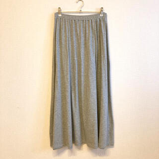 MUJI (無印良品) - 【無印良品】レーヨンコットン天竺ロングスカート 婦人S・グレー