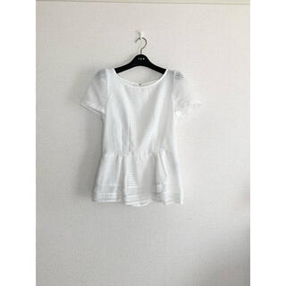 JUSGLITTY - 【美品】ジャスグリッティー 半袖 白色 トップス プルオーバー ブラウス