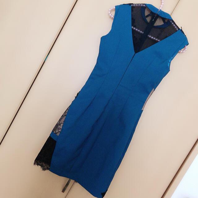 ROBE de FLEURS Glossy*フラワーレース*タイト*ドレス レディースのフォーマル/ドレス(ミニドレス)の商品写真