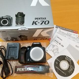 PENTAX - ペンタックスK-70 ボディー 新品同様 保証残あり