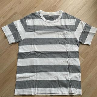 ムジルシリョウヒン(MUJI (無印良品))の無印良品 ボーダー 半袖 Tシャツ ポケット(Tシャツ/カットソー(半袖/袖なし))