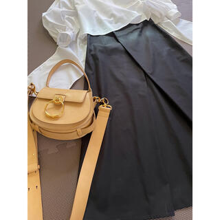 ENFOLD - 【ブレンヘイムBLENHEIM】黒色のウエストタックロングスカート 日本製