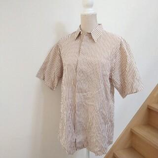ISSEY MIYAKE - ISSEY MIYAKE DESIGN STUDIO ストライプシャツ 大きめ